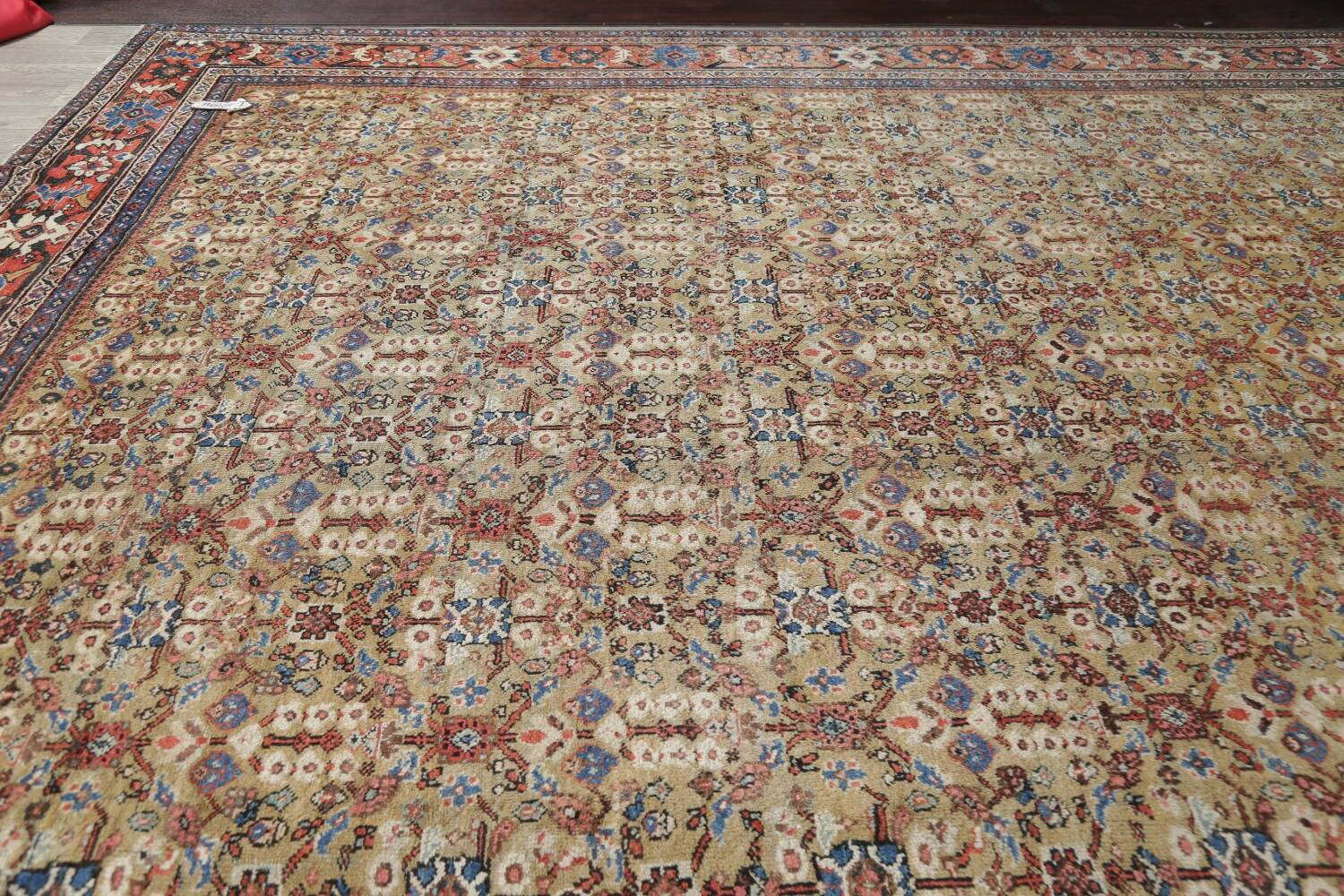 Antique Pre-1900 Sultanabad Persian Rug 13x22 Large image 14
