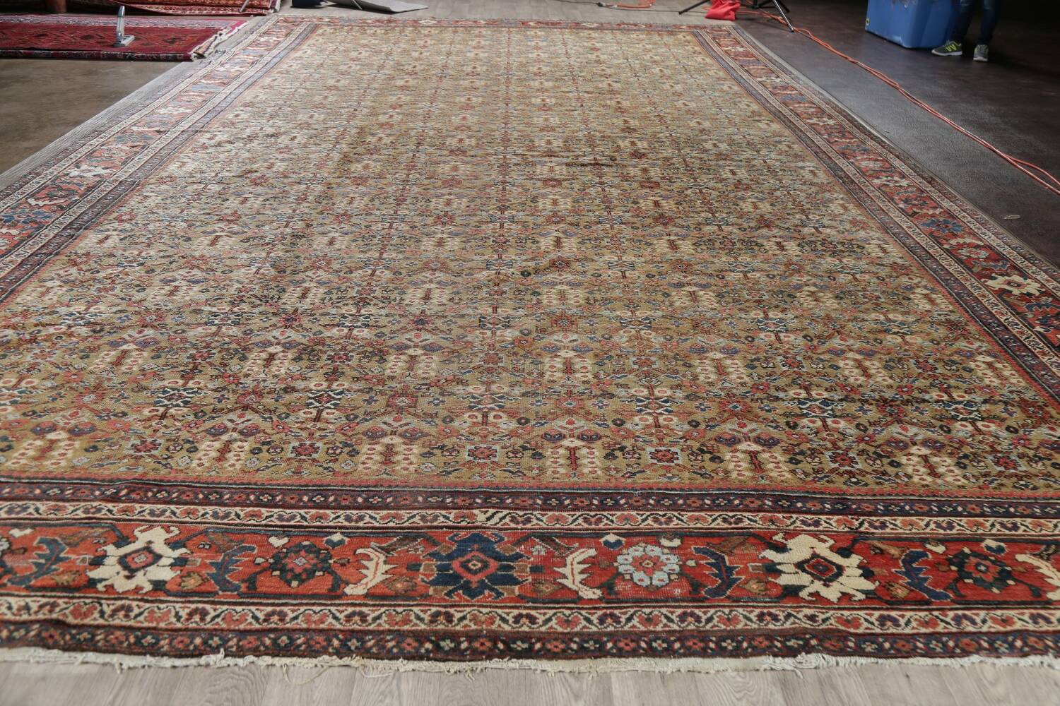 Antique Pre-1900 Sultanabad Persian Rug 13x22 Large image 18