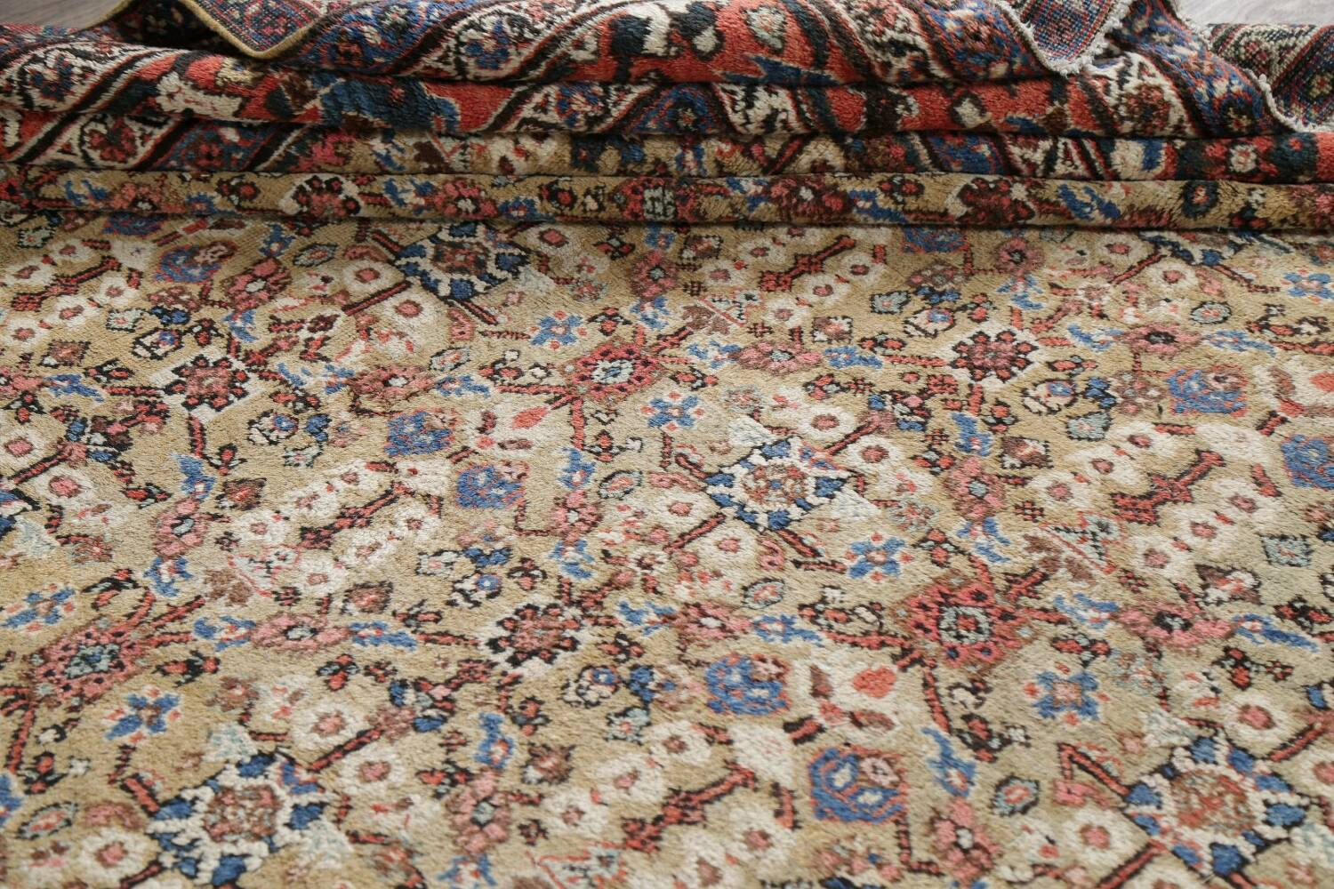Antique Pre-1900 Sultanabad Persian Rug 13x22 Large image 19