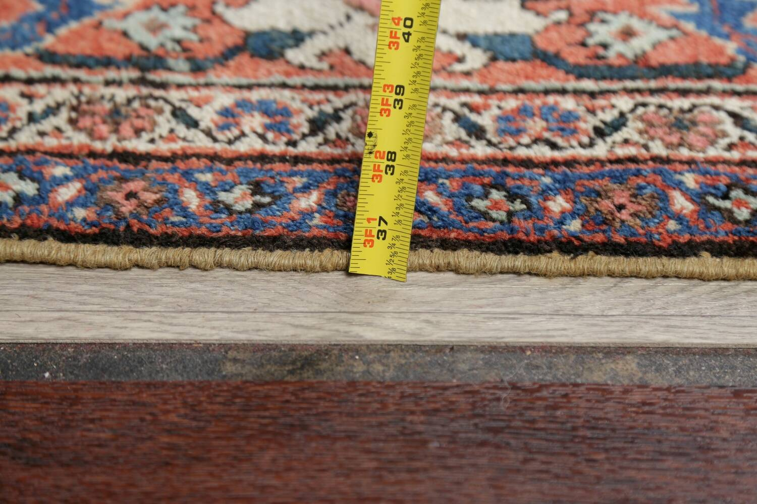 Antique Pre-1900 Sultanabad Persian Rug 13x22 Large image 22