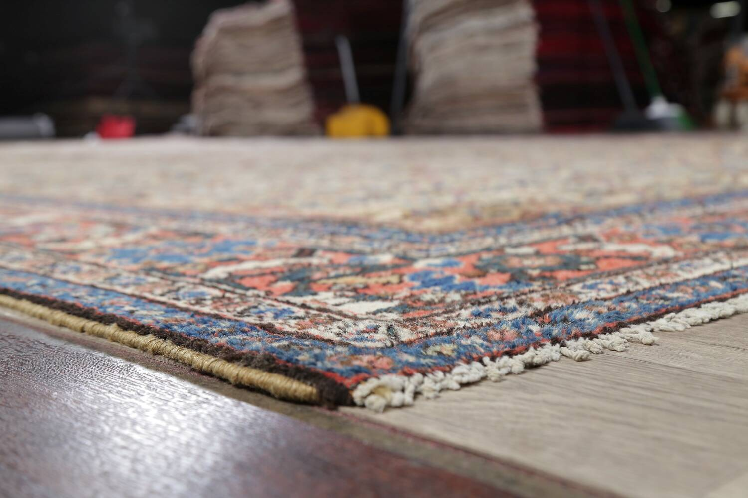 Antique Pre-1900 Sultanabad Persian Rug 13x22 Large image 6