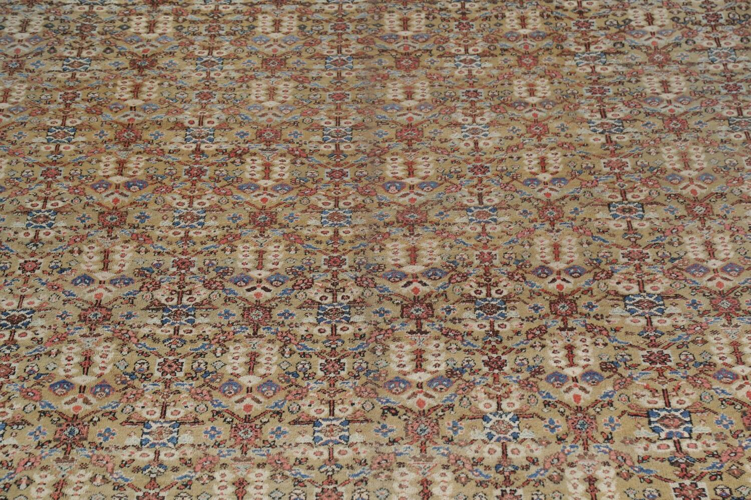 Antique Pre-1900 Sultanabad Persian Rug 13x22 Large image 4