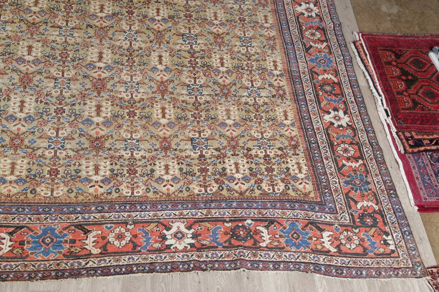 Antique Pre-1900 Sultanabad Persian Rug 13x22 Large image 5