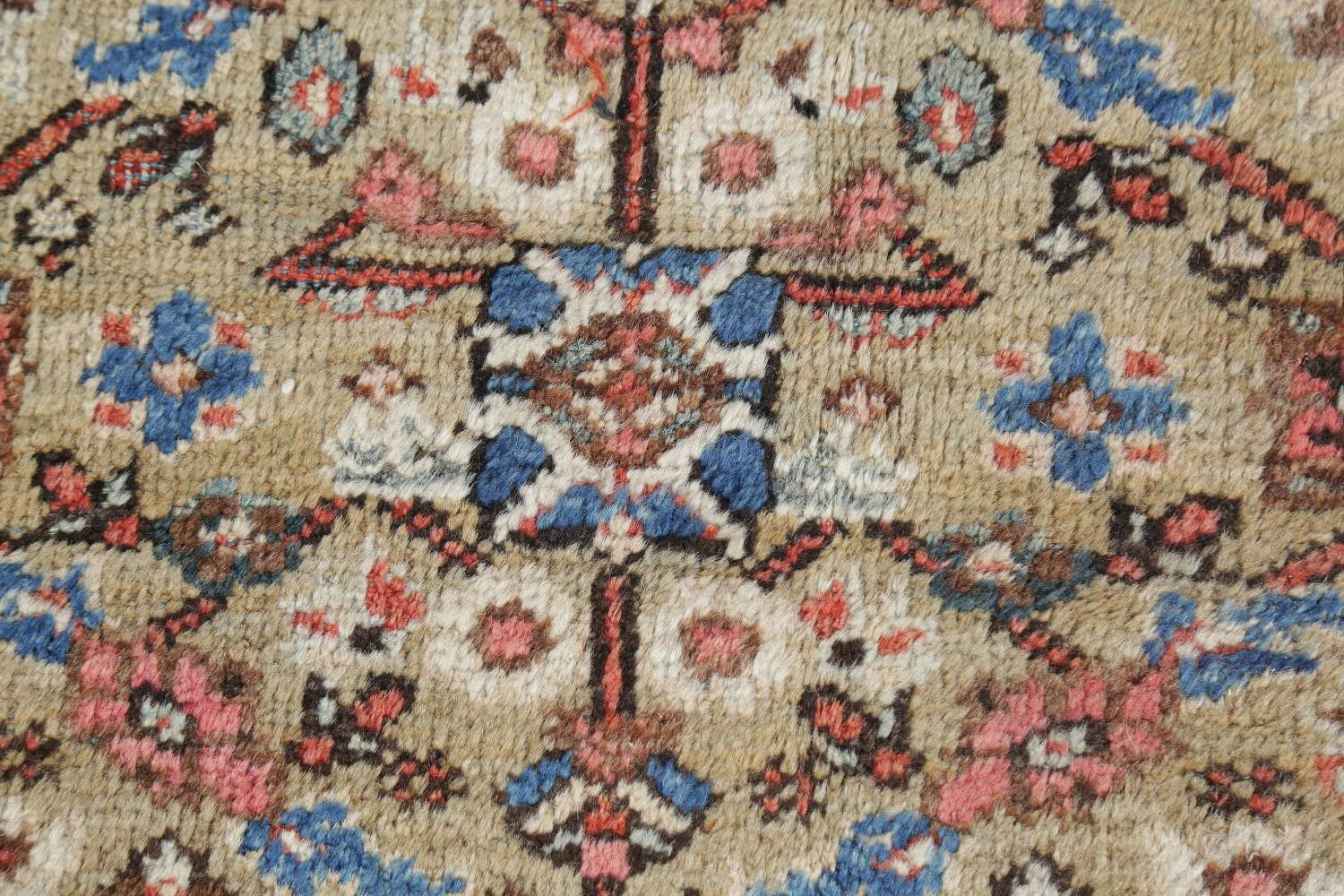 Antique Pre-1900 Sultanabad Persian Rug 13x22 Large image 9