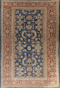 Antique Floral Sultanabad Persian Area Rug 10x16 Large