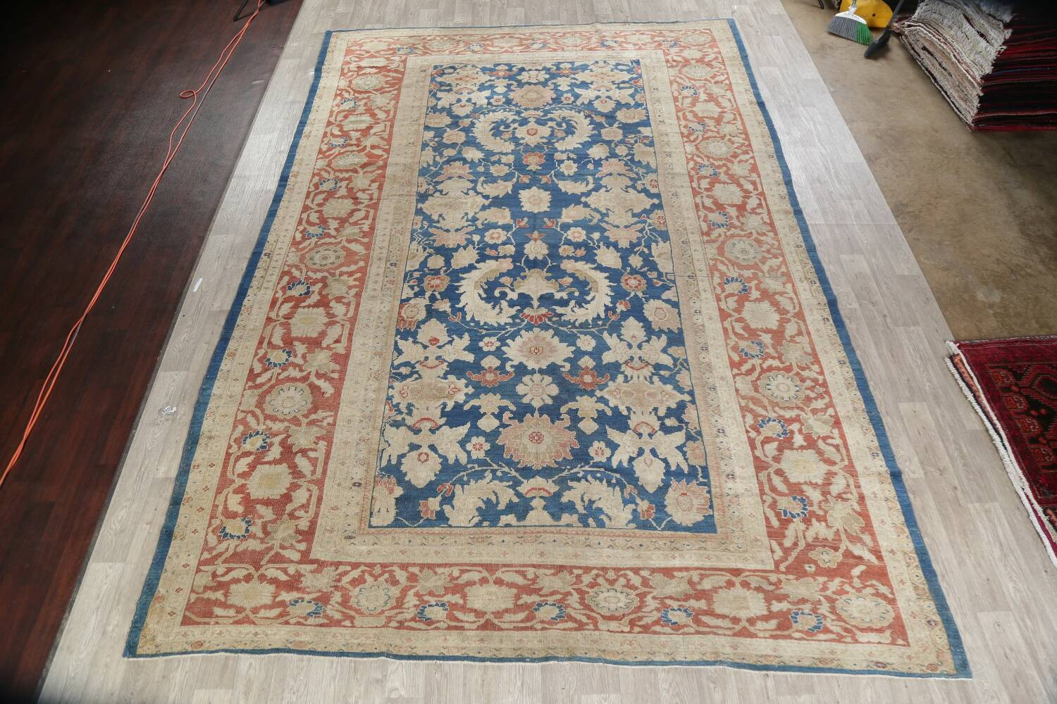 Antique Floral Sultanabad Persian Area Rug 10x16 Large image 1