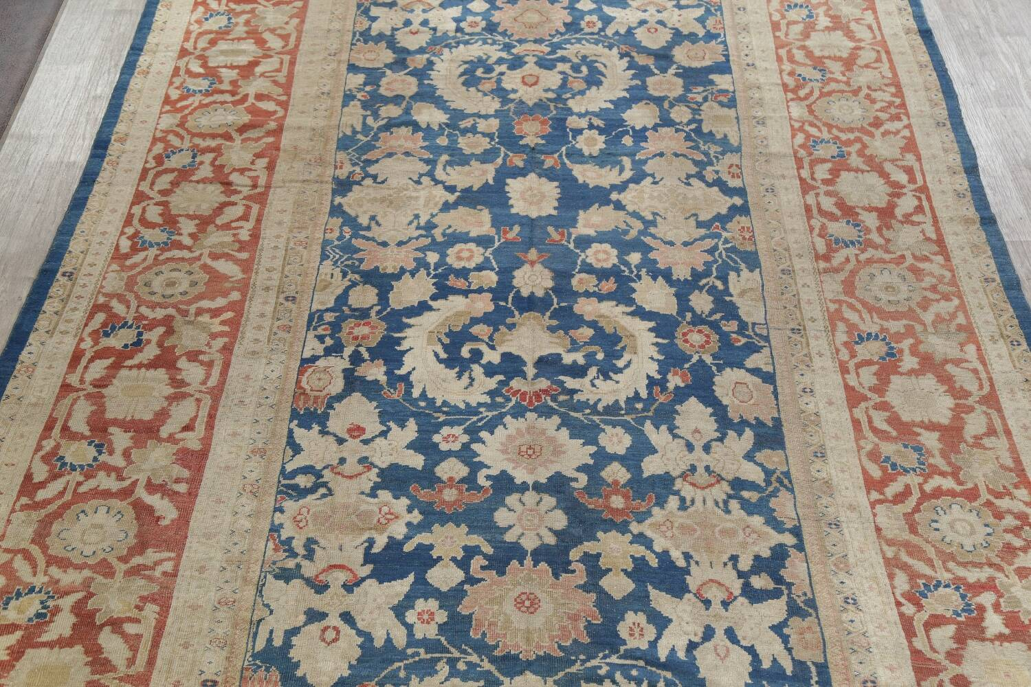 Antique Floral Sultanabad Persian Area Rug 10x16 Large image 3