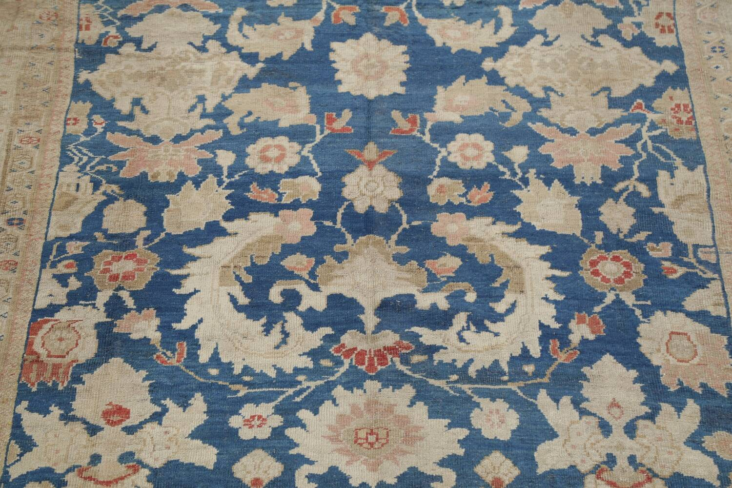 Antique Floral Sultanabad Persian Area Rug 10x16 Large image 4