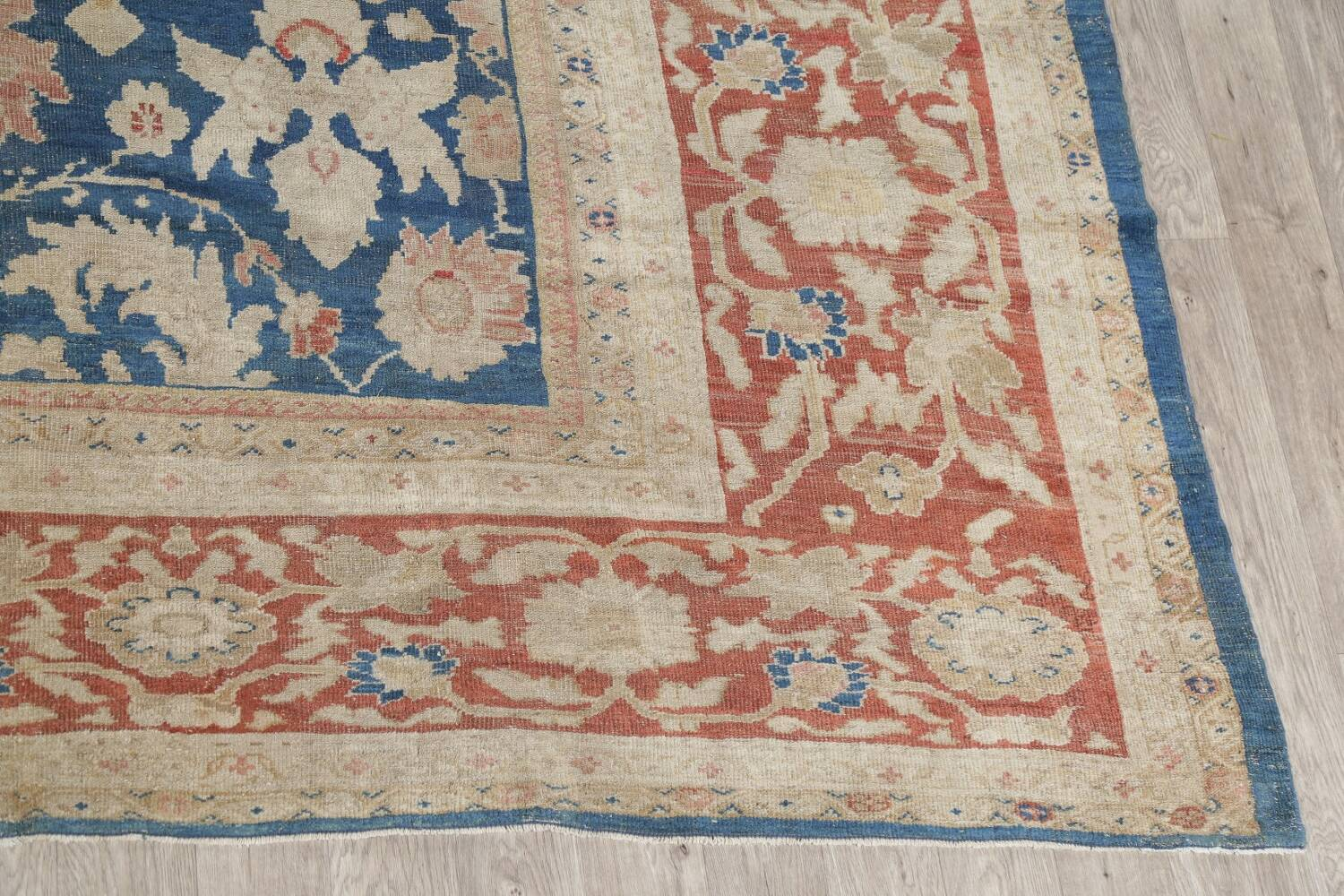 Antique Floral Sultanabad Persian Area Rug 10x16 Large image 5
