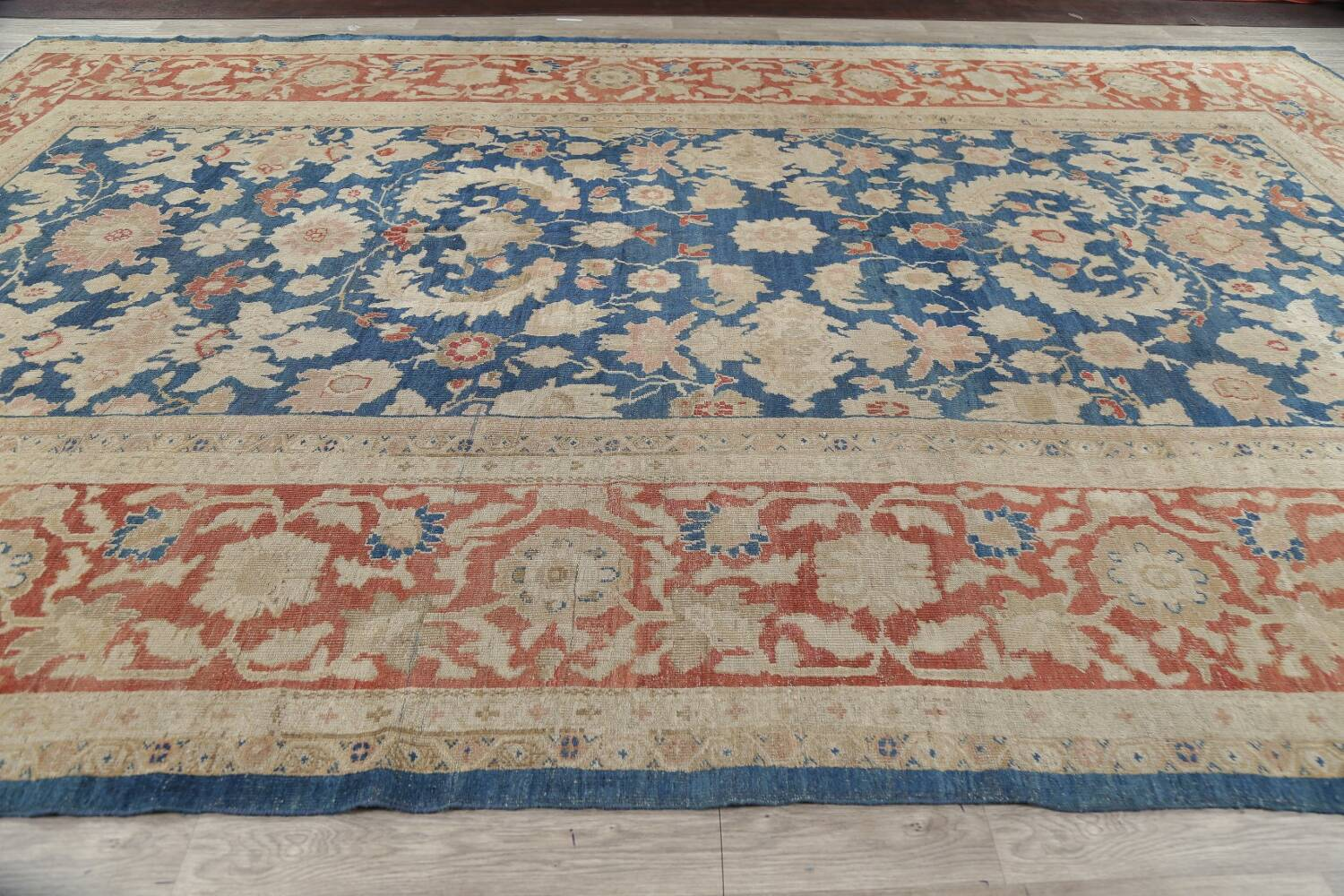 Antique Floral Sultanabad Persian Area Rug 10x16 Large image 17