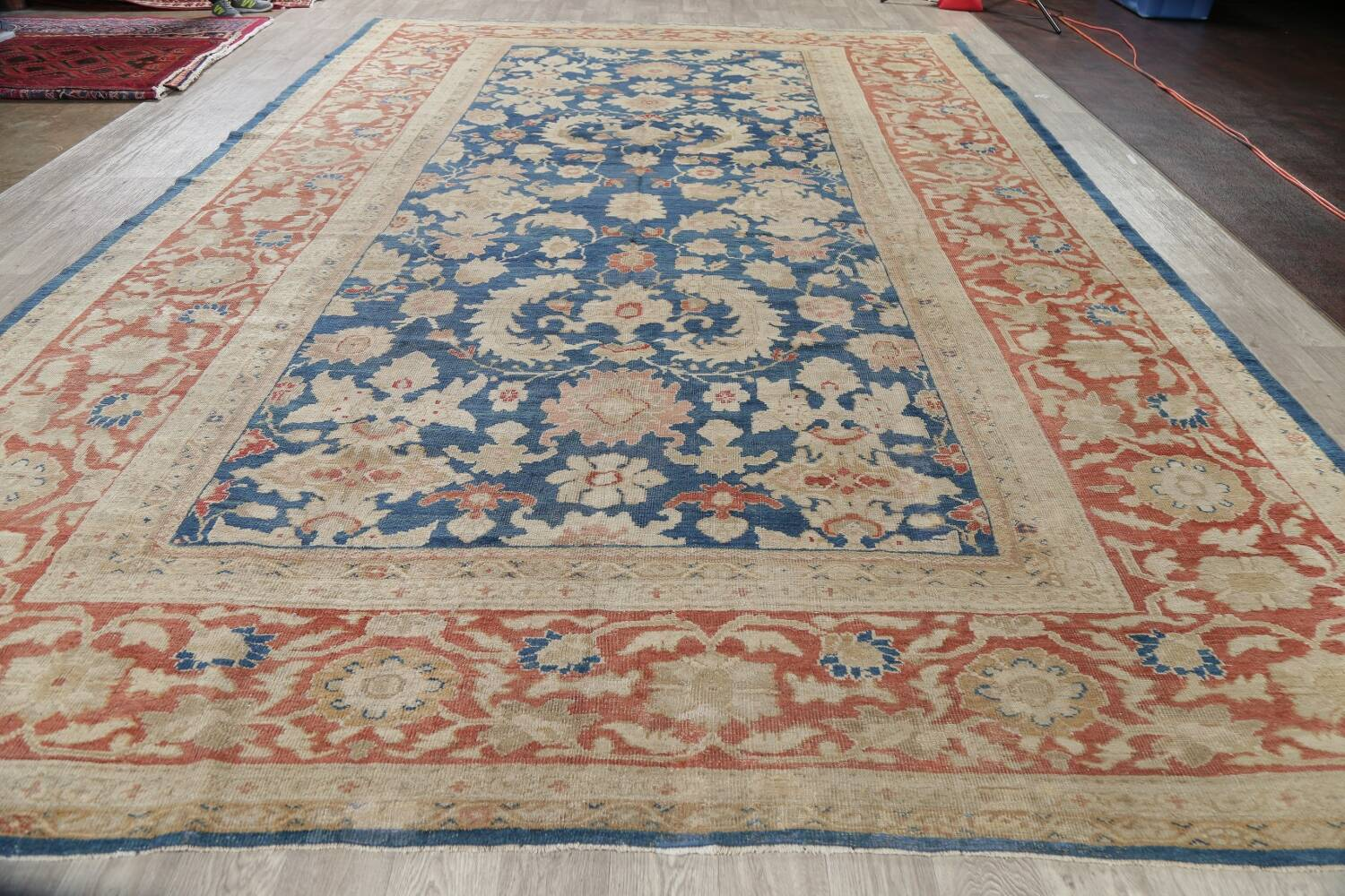 Antique Floral Sultanabad Persian Area Rug 10x16 Large image 18