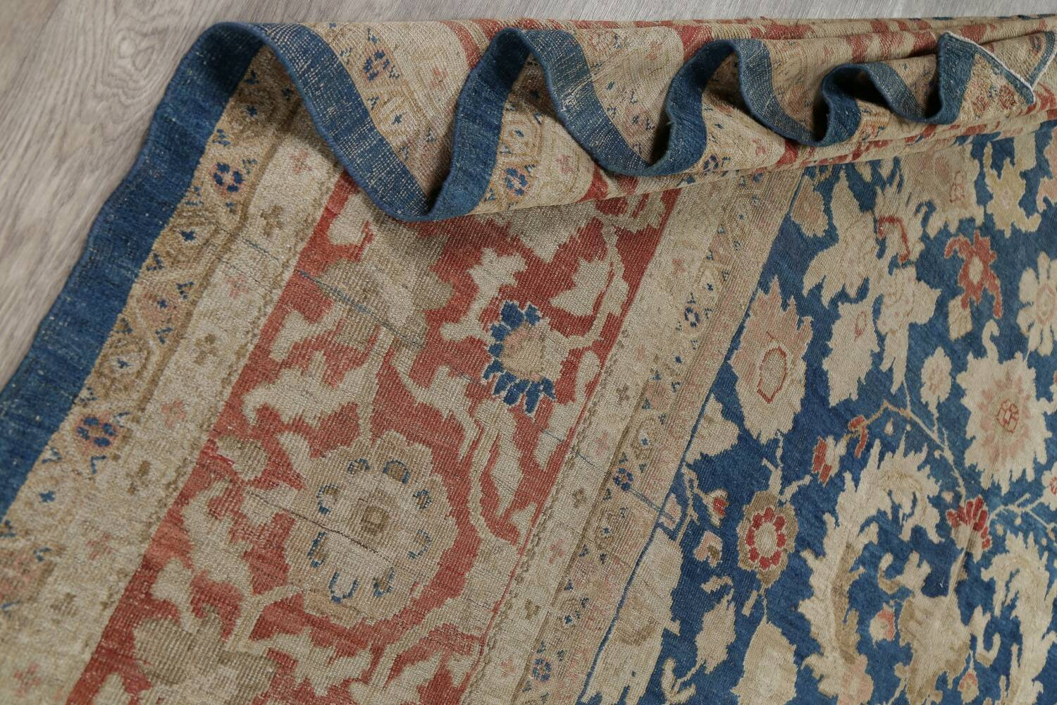 Antique Floral Sultanabad Persian Area Rug 10x16 Large image 20