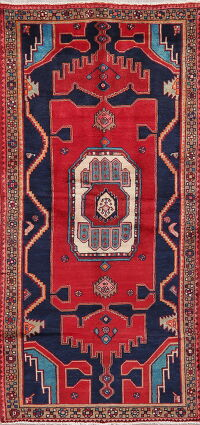 Geometric Malayer Red Persian Area Rug 3x7
