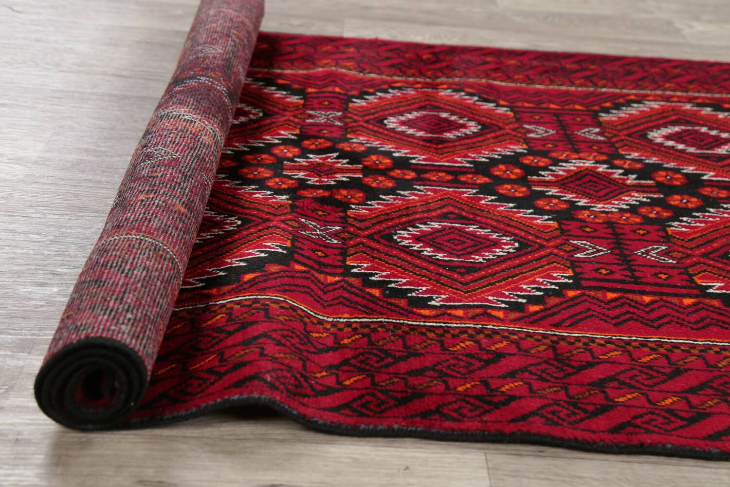 Geometric Red Balouch Persian Area Rug 3x6 image 18
