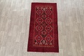 Geometric Red Balouch Persian Area Rug 3x6 image 2