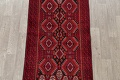 Geometric Red Balouch Persian Area Rug 3x6 image 3