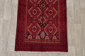 Geometric Red Balouch Persian Area Rug 3x6 image 8