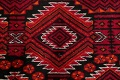 Geometric Red Balouch Persian Area Rug 3x6 image 10