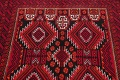 Geometric Red Balouch Persian Area Rug 3x6 image 13