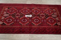 Geometric Red Balouch Persian Area Rug 3x6 image 12