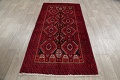 Geometric Red Balouch Persian Area Rug 3x6 image 16
