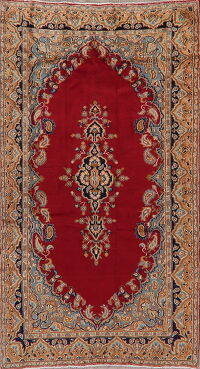 Red Wool Kerman Persian Area Rug 4x7