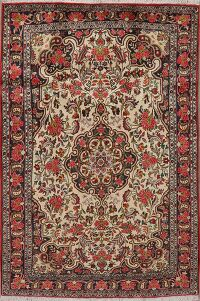 Vegetable Dye Floral Bidjar Persian Area Rug 5x7