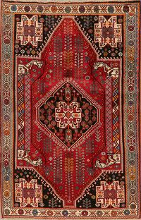 Tribal Geometric Abadeh Persian Area Rug 5x8