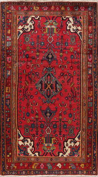 Geometric Red Lilian Persian Area Rug 4x7