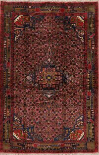 Tribal Geometric Pink Malayer Persian Area Rug 5x8