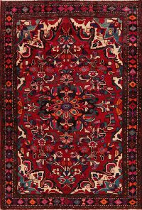 Floral Red Lilian Persian Area Rug 5x8