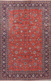 All-Over Floral Sarouk Persian Area Rug 7x10