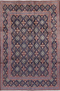 All-Over Navy Blue Mood Persian Area Rug 7x10