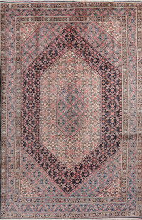 Vintage Geometric Mood Persian Area Rug 7x11