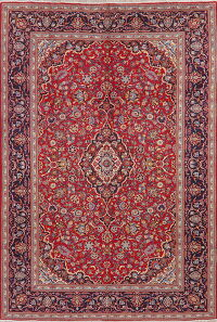 Floral Kashan Red Persian Area Rug 8x11