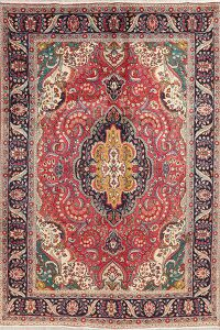 Floral Tabriz Red Persian Area Rug 7x10