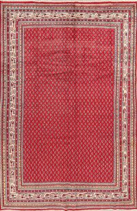 Boteh Botemir Persian Red Area Rug 7x10