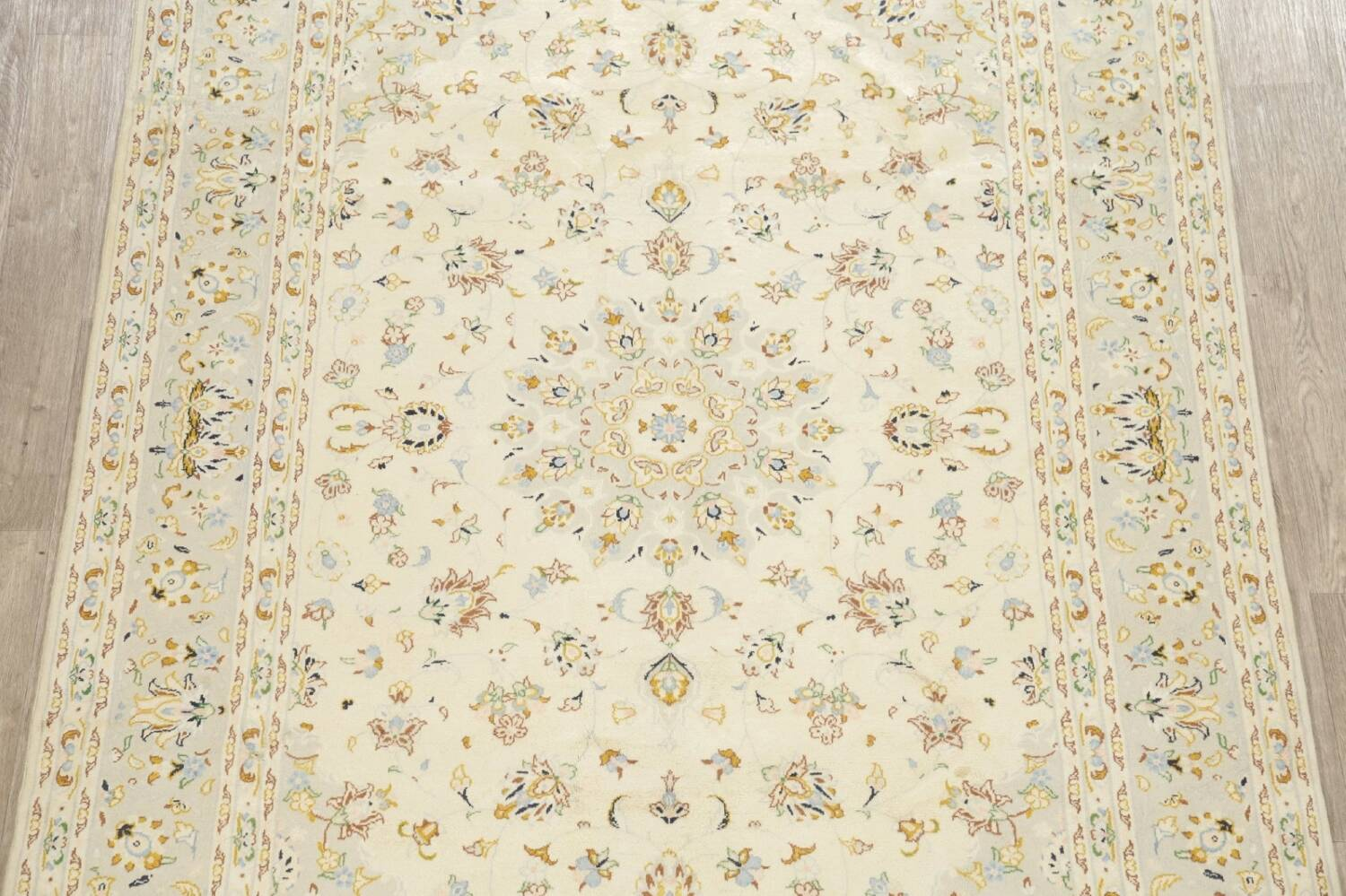 Floral Kashan Persian Area Rug 6x10 image 3