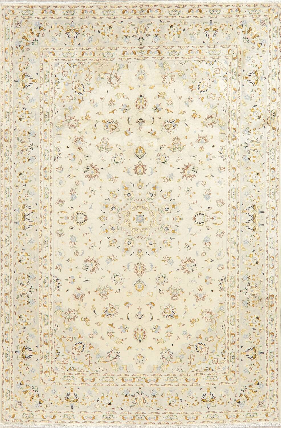 Floral Kashan Persian Area Rug 6x10 image 1