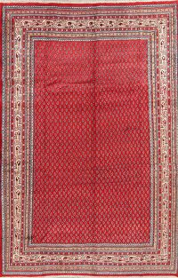 Boteh Botemir Persian Red Area Rug 7x11