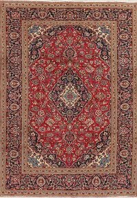 Floral Kashan Red Persian Area Rug 7x9