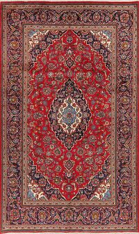 Floral Kashan Red Persian Area Rug 6x11