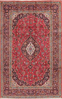 Floral Kashan Red Persian Area Rug 7x10