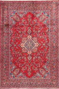 Floral Shahbaft Persian Red Area Rug 7X10