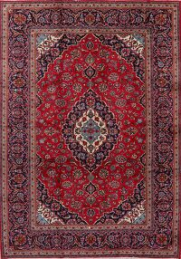 Floral Red Kashan Persian Area Rug 8x12