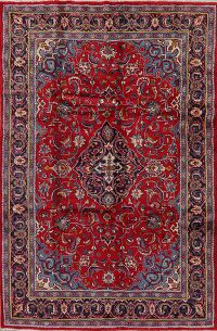 Floral Red Mahal Persian Area Rug 7x10