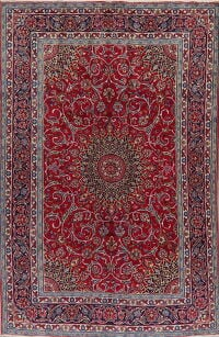 Floral Red Kashmar Persian Area Rug 6x10