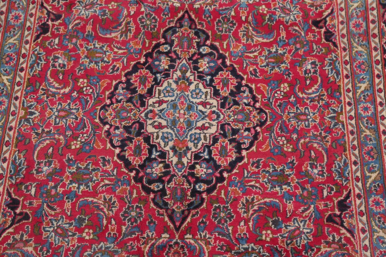 Floral Red Mashad Persian Area Rug 6x10 image 4
