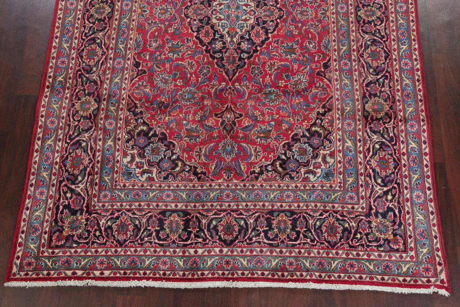 Floral Red Mashad Persian Area Rug 6x10 image 8