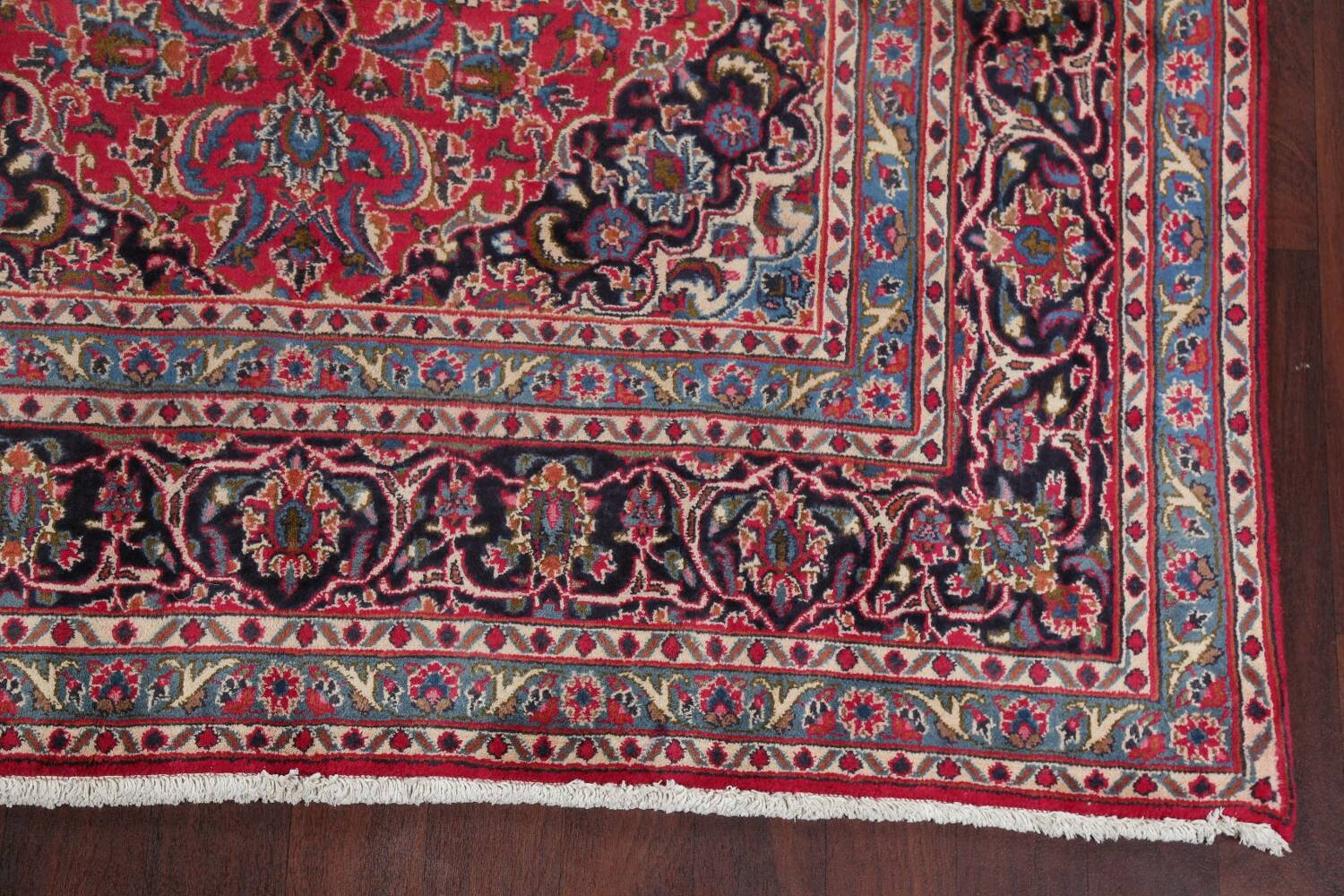 Floral Red Mashad Persian Area Rug 6x10 image 5